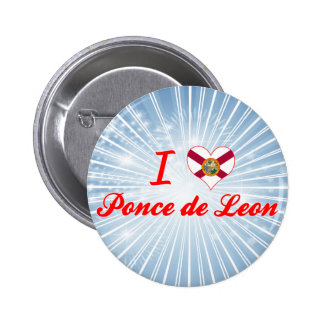 I Love Ponce de Leon Florida Pin