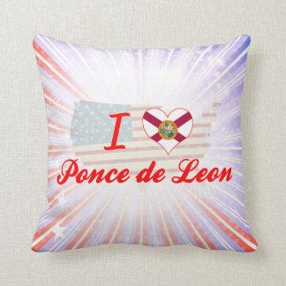 I Love Ponce de Leon, Florida Throw Pillow