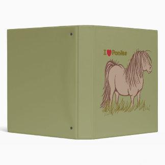 I Love Ponies Vinyl Binder