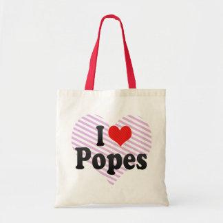 I Love Popes Tote Bag