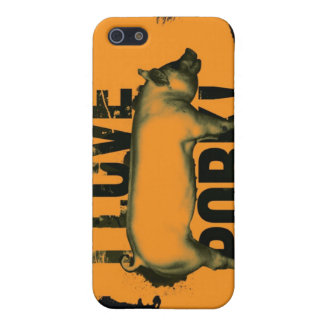 I love pork iphone G4 Case Cover For iPhone 5/5S