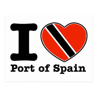 I love Port of Spain Postcard