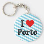 I Love Porto, Portugal. Eu Amo Porto, Portugal Key Chain