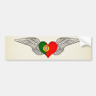 I Love Portugal -wings Bumper Sticker