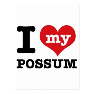 I Love possum Postcard