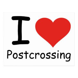 I love Postcrossing Postcard
