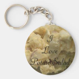 I Love Potato Salad Basic Round Button Keychain