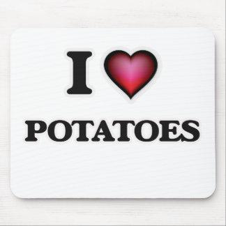 I Love Potatoes Mouse Pad