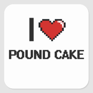 I Love Pound Cake Square Sticker