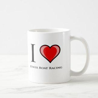 I Love Power Boat Racing Basic White Mug