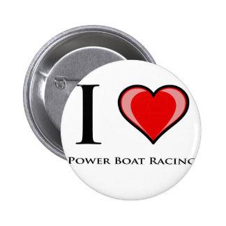 I Love Power Boat Racing Pin