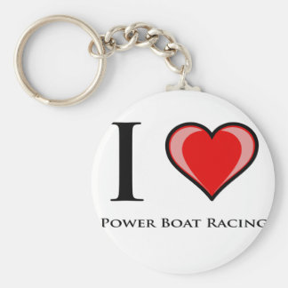 I Love Power Boat Racing Key Chains
