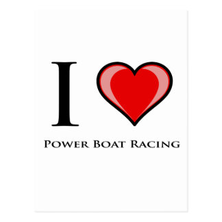 I Love Power Boat Racing Postcard