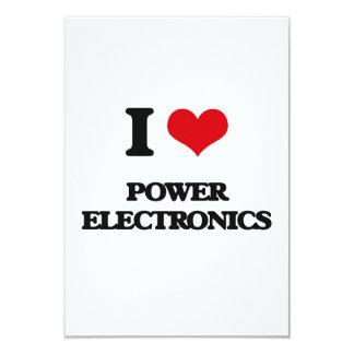 "I Love POWER ELECTRONICS 3.5"" X 5"" Invitation Card"