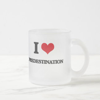 I Love Predestination Frosted Glass Coffee Mug
