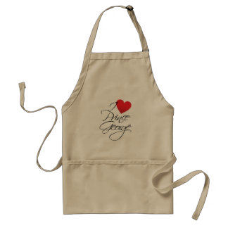 I Love Prince George, Red Heart Standard Apron