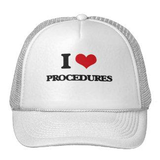 I Love Procedures Trucker Hat