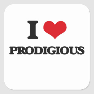 I Love Prodigious Square Sticker