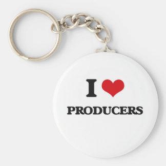 I Love Producers Keychain
