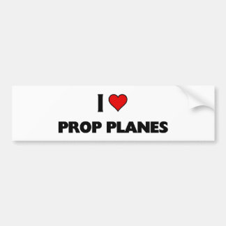 I love Prop Planes Bumper Sticker