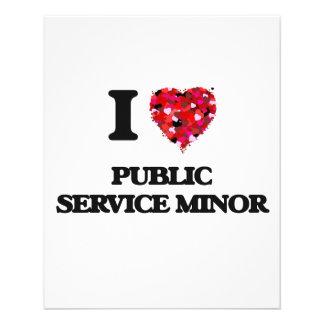 I Love Public Service Minor Flyer