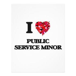 I Love Public Service Minor Flyer Design