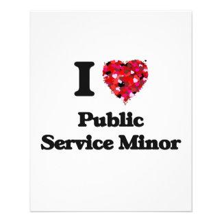 I Love Public Service Minor Full Color Flyer