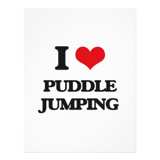 "I love Puddle Jumping 8.5"" X 11"" Flyer"