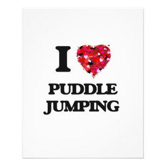 I love Puddle Jumping Flyer Design