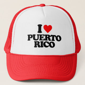 I LOVE PUERTO RICO TRUCKER HAT