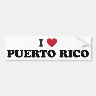 I Love Puetro Rico Bumper Sticker