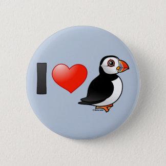 I Love Puffins 2 Inch Round Button