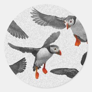 I Love Puffins! Round Sticker