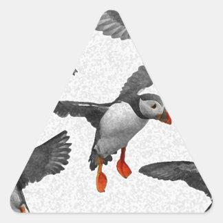 I Love Puffins! Triangle Sticker