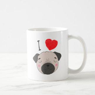 I love pugs coffee mug