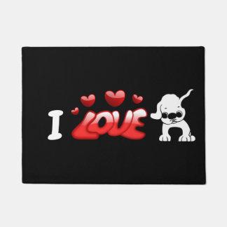 I Love Pugs Doormat