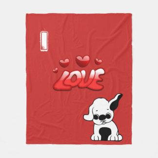 I Love Pugs Fleece Blanket
