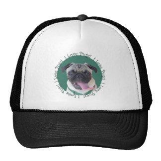 I Love Pugs Hat