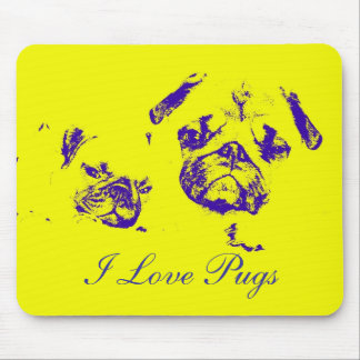 I Love Pugs, Mouse Pad