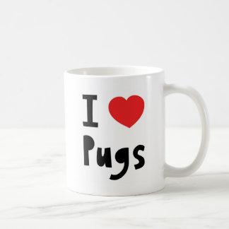 I Love pugs Mugs