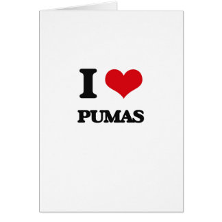 I Love Pumas Card