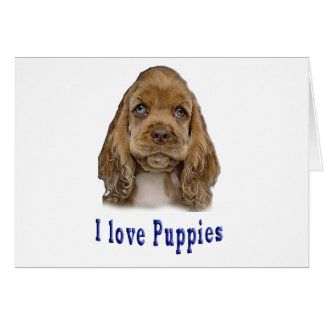 I love puppies card