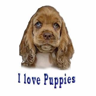 I love puppies photo sculpture keychain