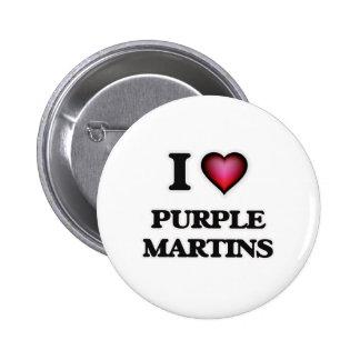 I Love Purple Martins 2 Inch Round Button