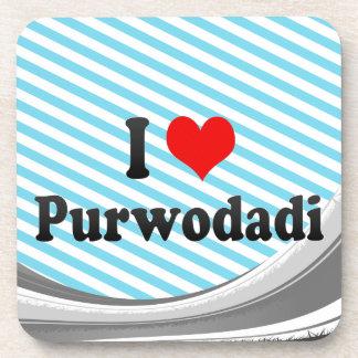 I Love Purwodadi, Indonesia Drink Coasters
