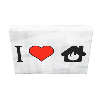 I Love Putting Off Fire In The House Gallery Wrap Canvas