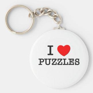 I Love Puzzles Keychain