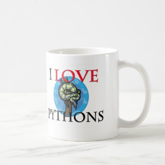 I Love Pythons Mugs