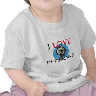 I Love Pythons Shirts