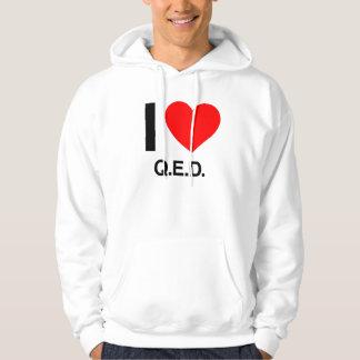 i love q.e.d. hoodie